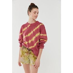 NWT UO Tie Dye Sweater - Muted Red/Yellow